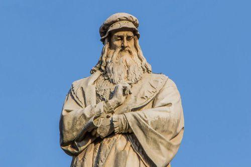 达芬奇雕塑