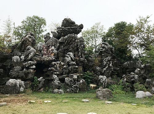 灵璧石假山