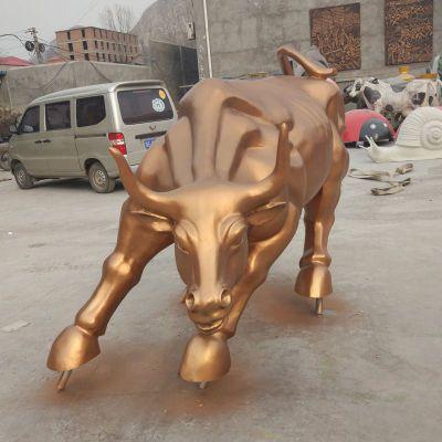 玻璃钢仿华尔街铜牛