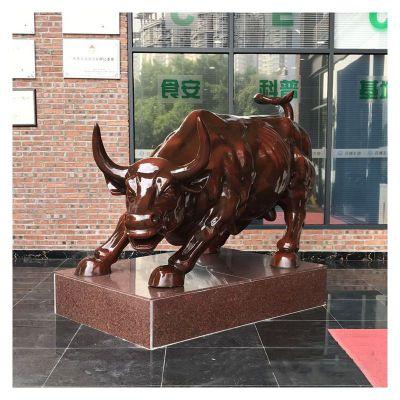 华尔街牛景观铜雕