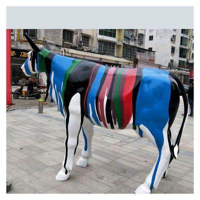 玻璃钢雕塑彩绘卡通牛 (2)