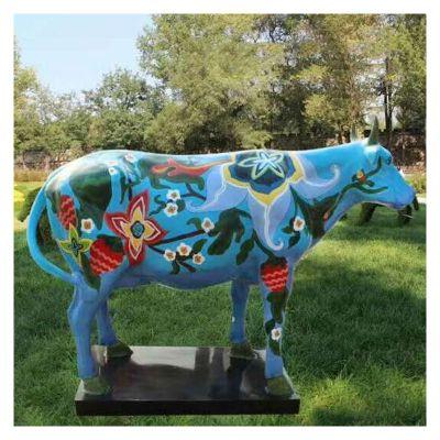 玻璃钢雕塑彩绘卡通牛 (5)