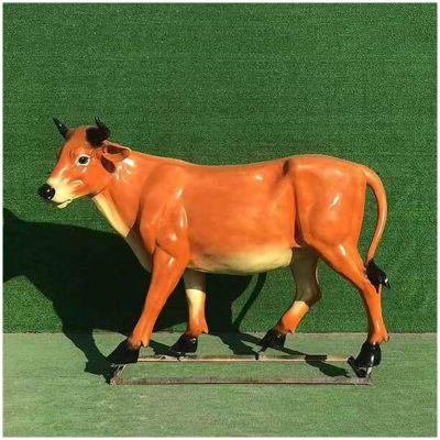 玻璃钢仿真黄牛雕塑 (1)