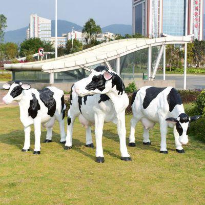玻璃钢仿真奶牛雕塑 (1)