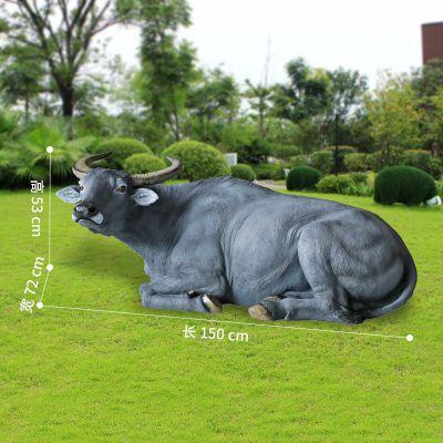 玻璃钢水牛仿真雕塑 (5)