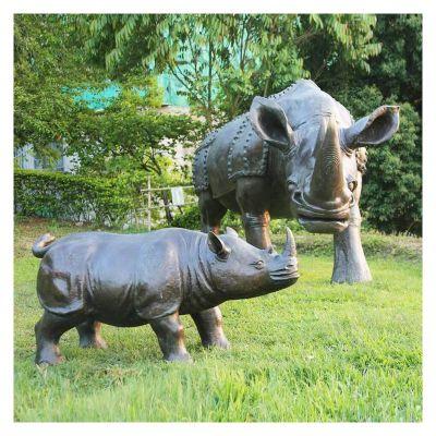 仿真犀牛铜雕 (2)