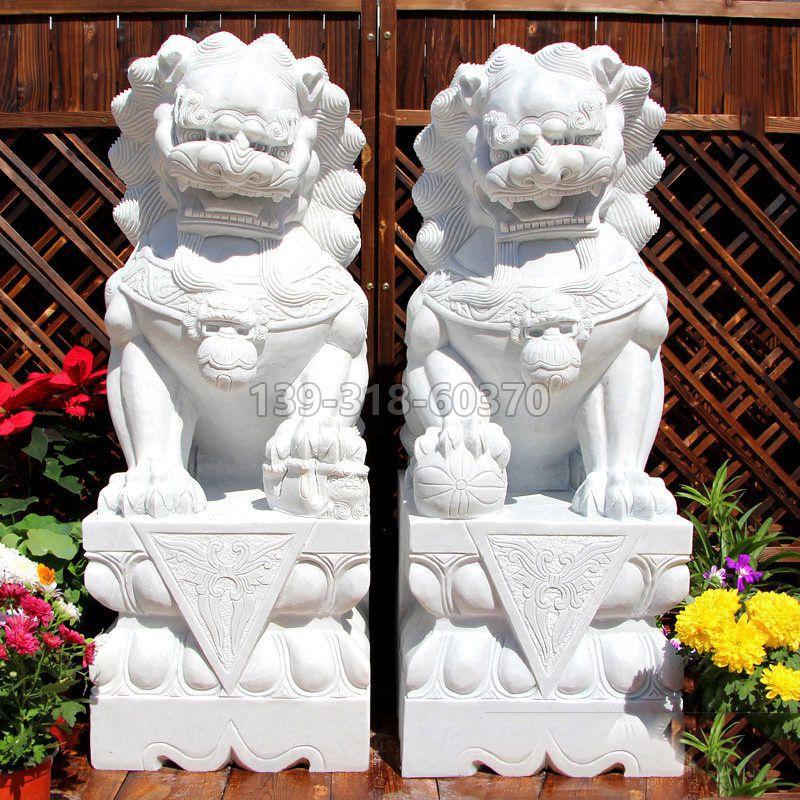 汉白玉北京石狮子