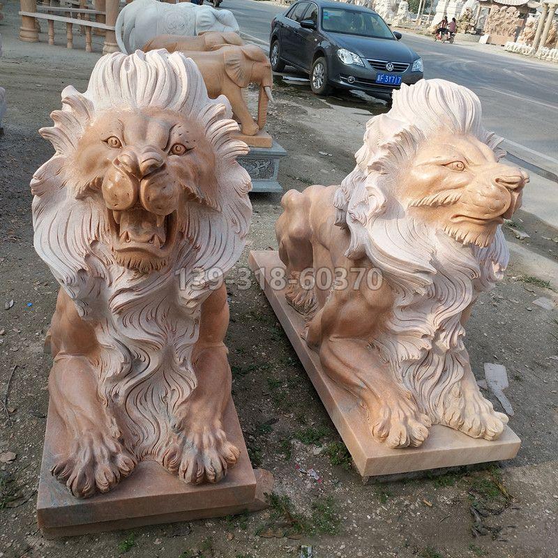 港币狮子爬狮雕塑