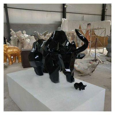 玻璃钢抽象牛雕塑工艺品 (3)