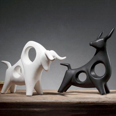 不锈钢抽象牛雕塑_153