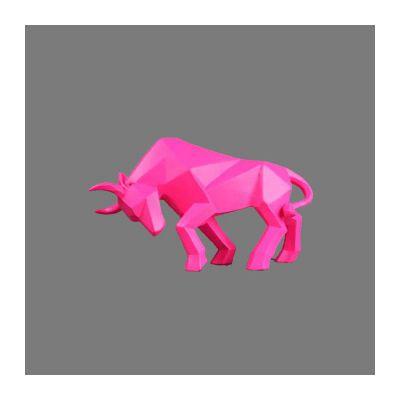 不锈钢抽象牛雕塑_156