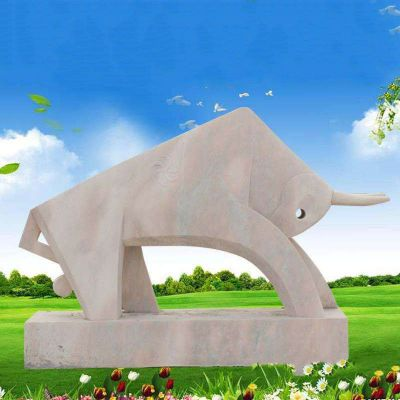 石雕抽象动物牛