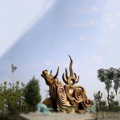 铜雕抽象牛雕塑