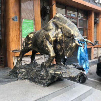 玻璃钢仿铜开荒牛