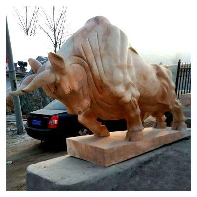 石雕开荒牛
