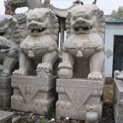 天安门狮子石雕塑