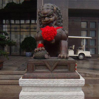 铜雕天安门狮子雕塑