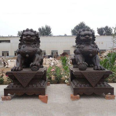铜雕北京狮子