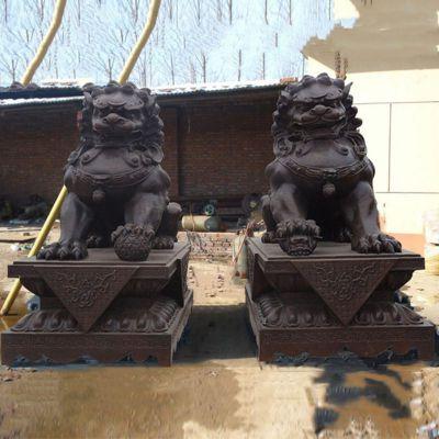 北京狮子铜雕塑