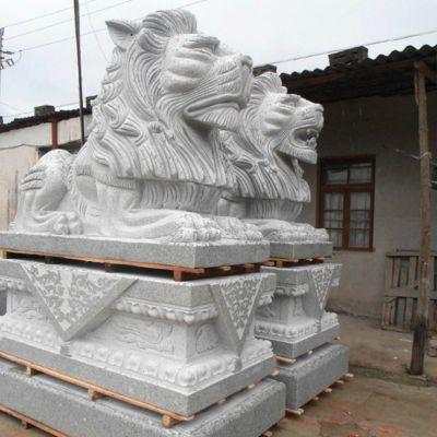 石雕港币狮子