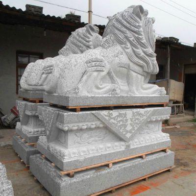 汉白玉港币狮石雕