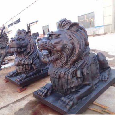 铸铜港币狮子铜雕塑