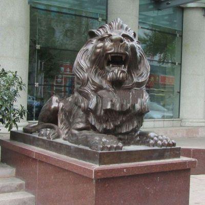 港币狮子铜雕塑