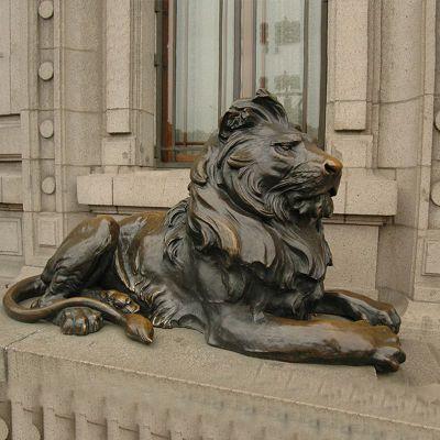 铜雕港币狮子