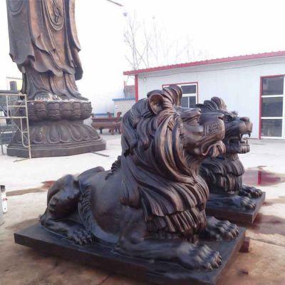 大型纯铜汇丰狮子