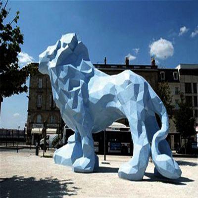 玻璃钢抽象西洋狮子雕塑