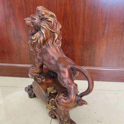 铜雕狮子西洋狮子