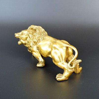 西洋狮子铜雕 (2)