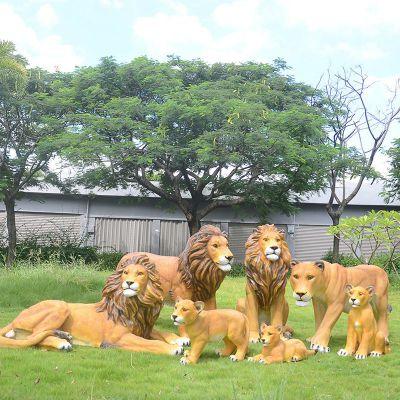 仿真狮子玻璃钢雕塑
