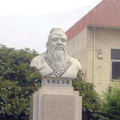 校园孔子头像雕塑