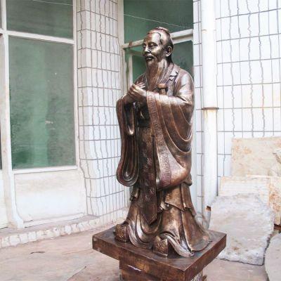 古代孔子铜雕