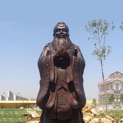 孔子铜雕塑