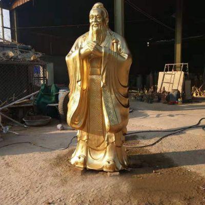 孔子铜雕像