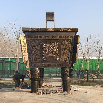 四方鼎铜雕塑