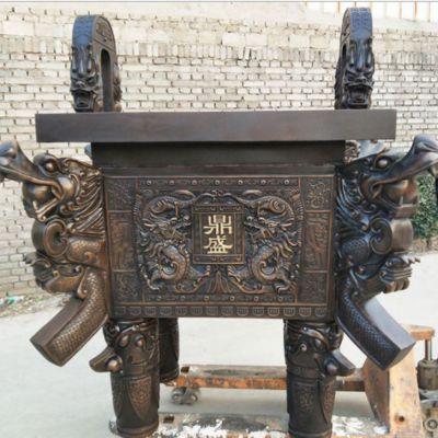 四方铜鼎雕塑