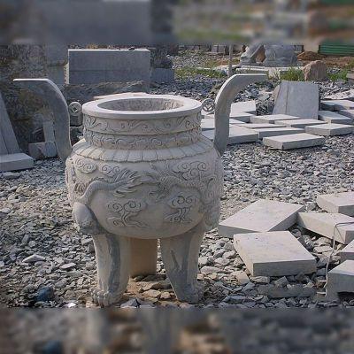 圆鼎石雕塑