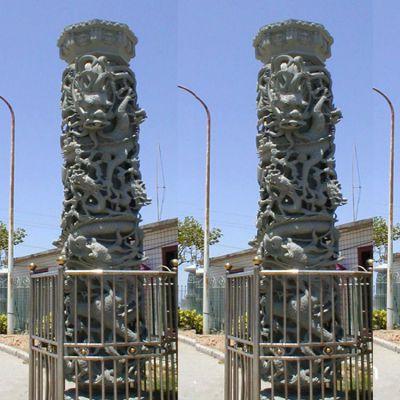 大理石雕刻龙柱