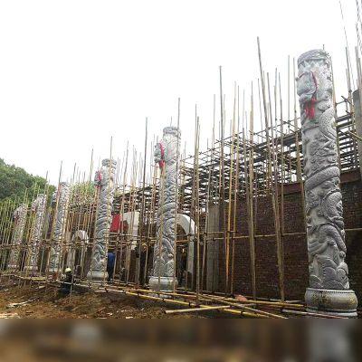 建筑石雕龙柱