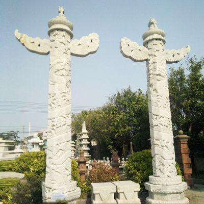 汉白玉华表石雕塑