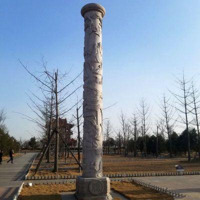 公园名人石雕文化柱