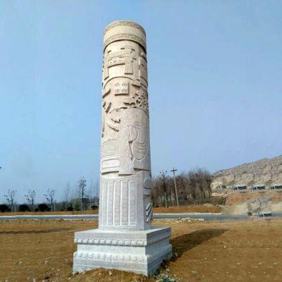 历史文化石雕柱子