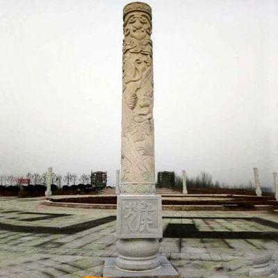 广场石雕文化柱