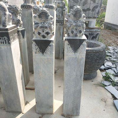 拴马桩石雕