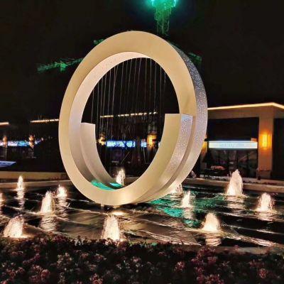 不锈钢灯光喷泉