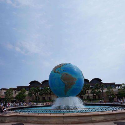 不锈钢地球喷泉景观雕塑