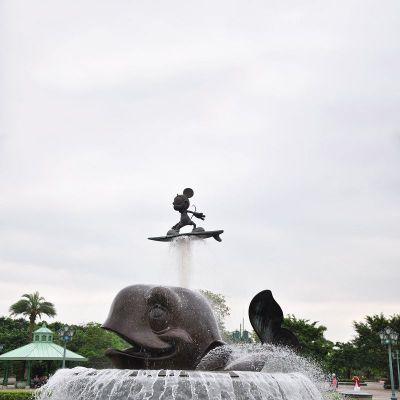 不锈钢动物景观喷泉雕塑